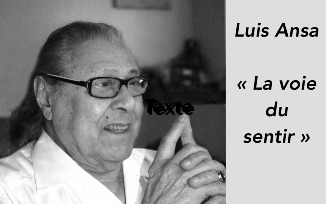 La voie du sentir de Luis Ansa