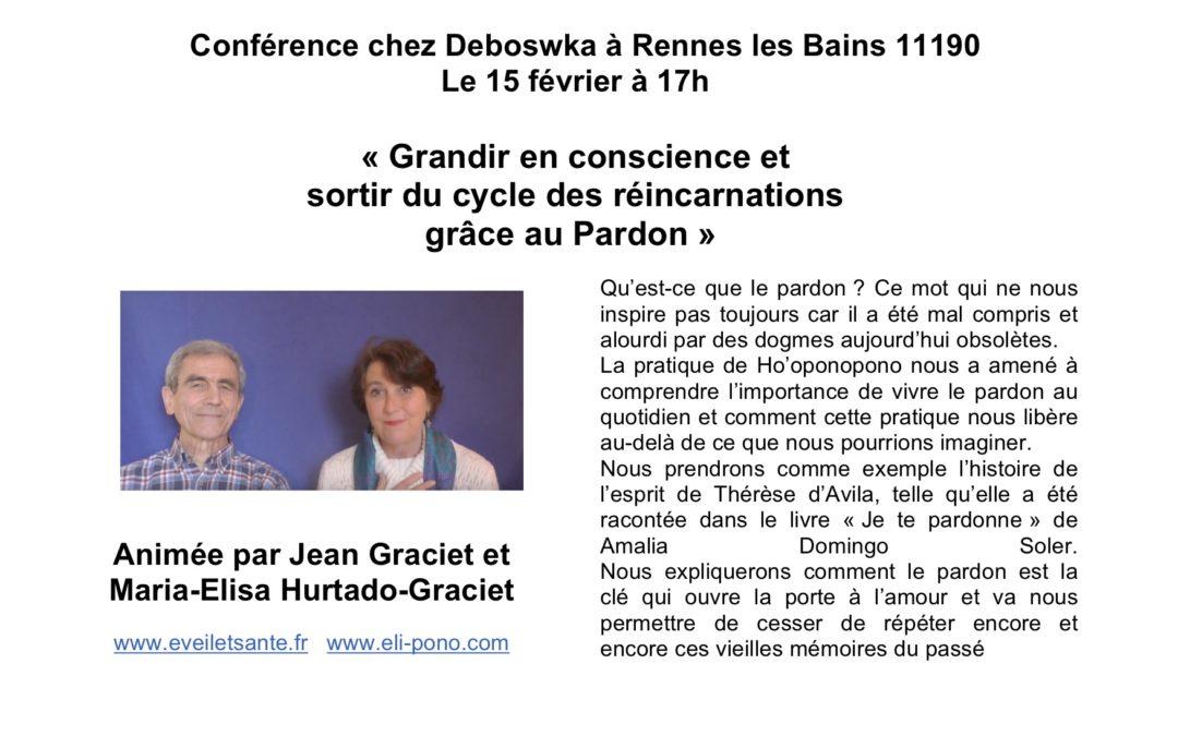 """Conférence """"Sortir du cycle des réincarnations grâce au pardon"""""""